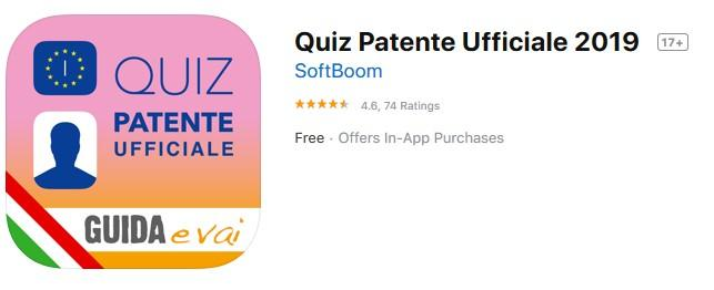 Quiz Patente Ufficiale 2019 app from SoftBoom